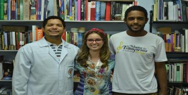 Juliano Carneiro (Enfermagem), Juliana Subtil (Geografia) e Luziel Patrício (Geografia)