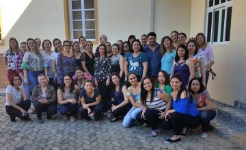 Professores de Perobas, distrito de Domingos Martins, participantes da formação.